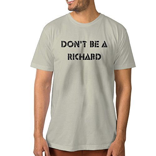 hotboy19-mens-dont-be-a-richard-t-shirt-cotton-short-sleeve-m-natural