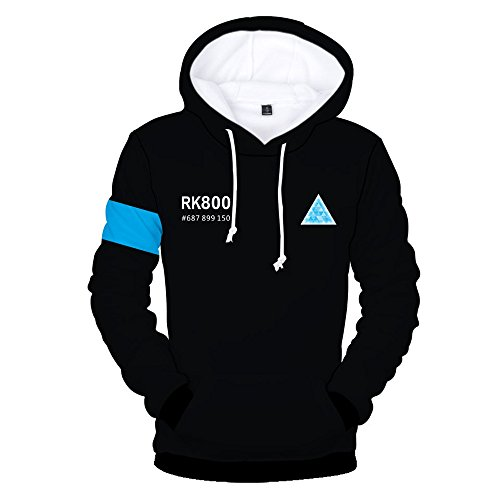 Become Human Hoodie 3D Printed Hooded Pullover Sweatshirt (Small, Color 6)