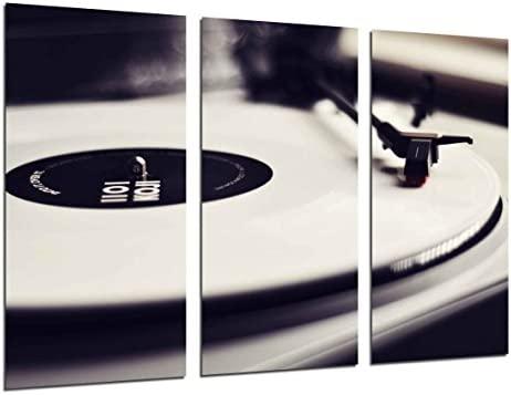 Cuadro Fotográfico Tocadiscos Vintage, Discos de Vinilo ...