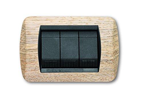 Placca living international compatibile bticino in legno massiccio