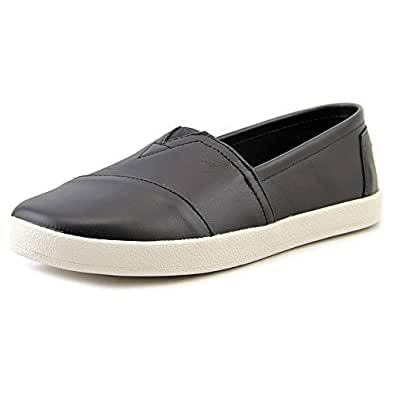 Toms Leather Women's Avalon Slips-On Black 10006231 Black