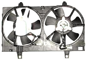 TYC 620360 Replacement Radiator/Condenser Cooling Fan Assembly For Select Nissan Vehicles ()
