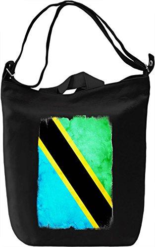 Tanzania Flag Borsa Giornaliera Canvas Canvas Day Bag| 100% Premium Cotton Canvas| DTG Printing|