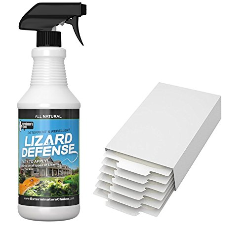 (Lizard and Gecko Ellimination kit for Home Use-Repellent & 6 Glue)