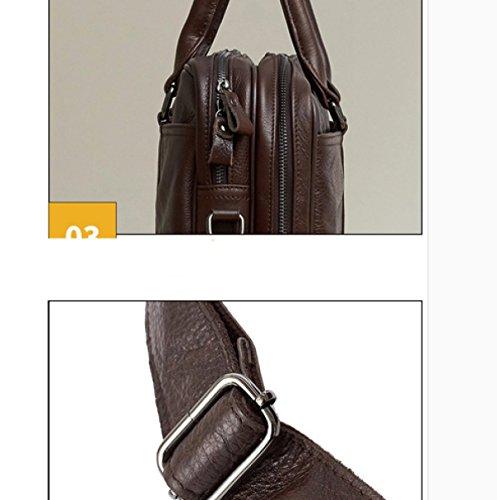 Ayer Moda Bolsos Hombre Bolsos Hombre Pack Business Maletín Maletines Para Ordenadores Bolsa Multiusos Para Hombro Brown