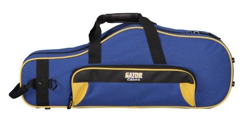 Gator GL-ALTOSAX-YB Lightweight Spirit Series Alto Saxophone Case, Yellow and Blue