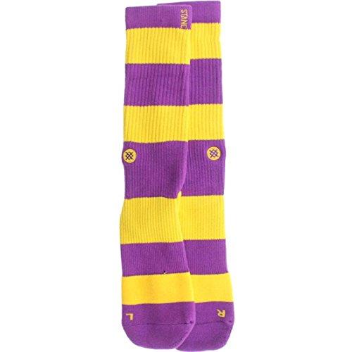 Stance Men's La Brea Crew Sock, Purple, Sock Size:10-13/Shoe Size: - Brea Stores