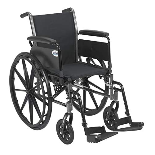 - Drive Cruiser III Light Weight Wheelchair with Flip Back Removable Arms, Full Arms, Swing Away Footrests, 16