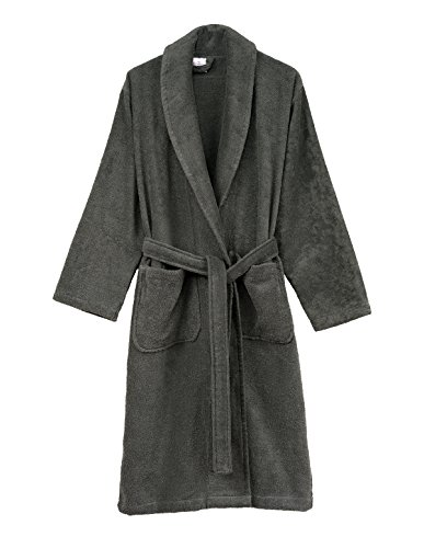 TowelSelections Women's Robe, Turkish Cotton Terry Shawl Bathrobe Large/X-Large Castlerock