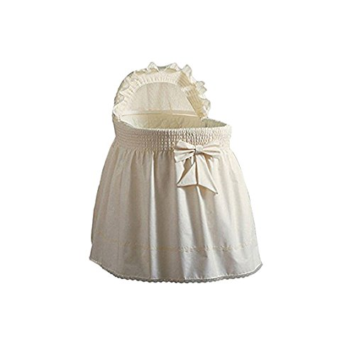BabyDoll Embossed Damask Creation Liner/Skirt & Hood, Ecru, 13'' x 29'' by Baby Doll