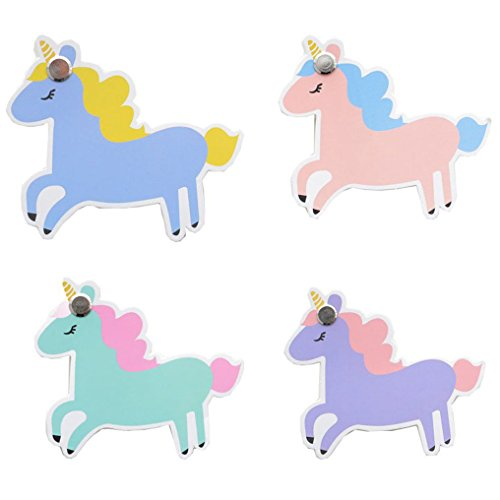 Mini Sticky Notepad (RIANCY Energetic Unicorn Note Pads in Different Color,Small Memo Notepad Tearable, Things To Do List Notepad, Blank (unicorn2))