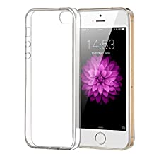 iPhone 5/5S/SE Case, ELZO Transparent Crystal Clear Soft TPU Back Protector Cover Shock-Absorption Bumper and Anti-Scratch Slim Flexible Shell for Apple iPhone 5/5S/SE