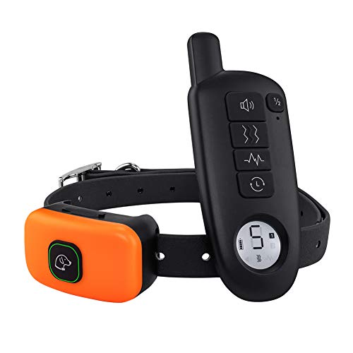 Dog Shock Collar with Remote – Rechargeable Dog Training Collar 3 Modes Beep Vibration and Shock 100 Waterproof Up to 1300 Ft Remote Range 5 Shock Levels for Large Small Dogs