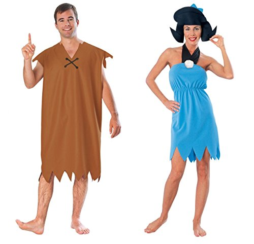 COUPLES BARNEY AND BETTY RUBBLE FLINTSTONES ADULT HALLOWEEN COSTUME