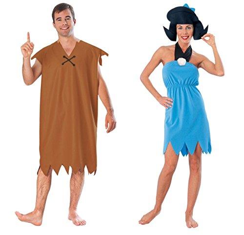 COUPLES BARNEY AND BETTY RUBBLE FLINTSTONES ADULT HALLOWEEN (Betty Costumes Flintstones)