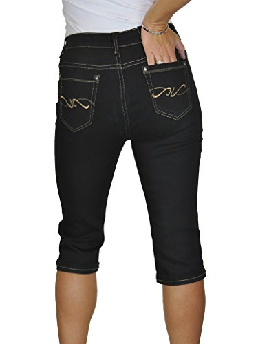 Jeans Nero Tratto Donna Con tasca Gambe Ice 2 Rettilineo BwHAann1