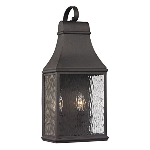 Alumbrada Collection Forged Jefferson 2 Light Outdoor Sconce In Charcoal