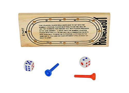 Home-X Roundabout Wooden Peg Travel Board Game [並行輸入品] B07SGW1FK6