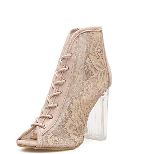 Pizzo Colore store Alti Shoe 2 36 Alto Comodi a Tacco Tacchi con Lacci in Sposa da Dimensioni 4x117FwOq