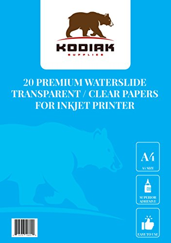 - A4 Water slide Decal Transfer Paper Sheet for Inkjet Printer water slide Transfer Transparent Printable Water Slide Decals A4 Sheets