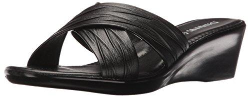 (ITALIAN Shoemakers Women's 168m Platform Dress Sandal, Black, 10 M US)