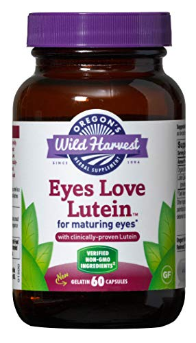 Oregon's Wild Harvest Eyes Love Lutein Capsules, Non-GMO Organic Herbal Supplements (Packaging May Vary), 60 Count ()