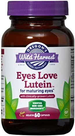 Oregon's Wild Harvest Eyes Love Lutein Capsules, Non-GMO Organic Herbal Supplements, 60 Count