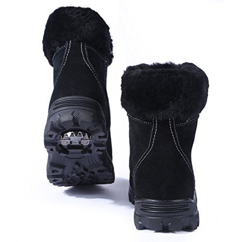 BULL Womens Boots Comfortable Black Lined Fur TITAN Zippered Winter r5vwr