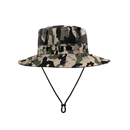 Indian Hunter Kit (Bucket Hat Camo With String For Mens-Fishing Boonie Hats - UV-Resistant And Cool (camo 1))