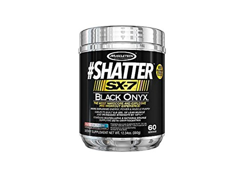 MuscleTech Shatter SX-7 Black Onyx, 60 Servings (Icy Rocket Freeze)