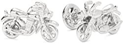 ROTENIER Novelty Sterling Silver Motorcycle and Wheel Cufflinks