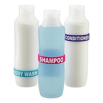 Delightful Shower Band Labels/Bands For Shampoo, Conditioner, Body Wash Bottles For  Your Bathroom