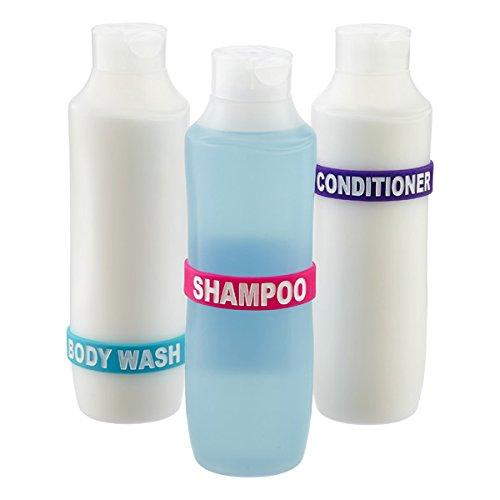 Shower Band Labels/Bands for Shampoo, Conditioner, Body Wash Bottles for your Bathroom