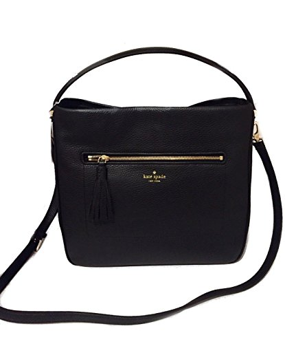 KATE SPADE Michaela Chester Street Black Hobo Black Crossbody Large WKRU4224 by Kate Spade New York