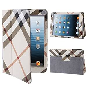 Plaid Pattern Anti-skidding Leather Case with Holder for iPad mini 1 / 2 / 3