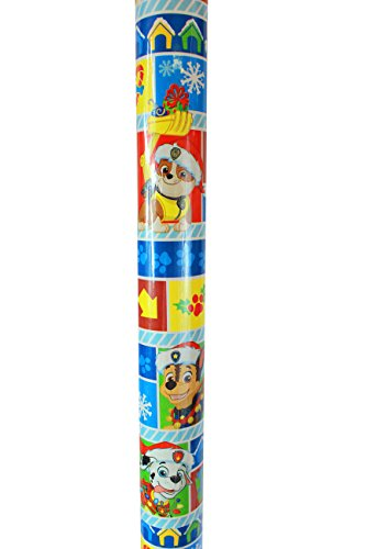 New Paw Patrol Christmas Graphics Wrapping Paper