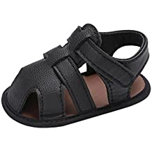 Baby Shoes,Todaies Toddler Boys Cute Crib Shoes T-tied Soft Prewalker Soft Sole Shoes 4 Colors (US:2.5, Black)