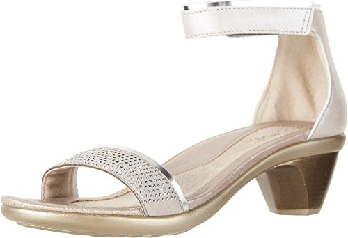 - NAOT Footwear Women's Progress Heel Quartz Lthr/Silver Luster Lthr/Beige w/Silver Rivets 10 M US