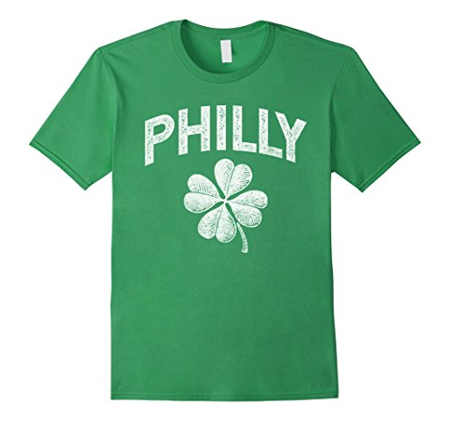 Philly - Philadelphia St Patrick's Day Shamrock Distressed (Philadelphia Phillies Womens Fashion)