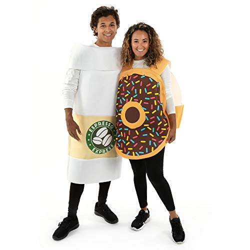 Venti Coffee & Chocolate Donut Couple Halloween