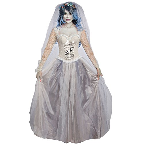 Dreamgirl Women's Dying to Marry, Grey, M -