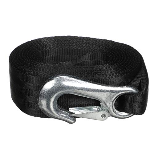 Bow Eye Attwood - attwood 11147-7 Trailer Winch Strap, Sewn-Loop End, 20 Feet Long, Rated for Winches Up to 2,000 Pounds, Forged Steel Snap Hook