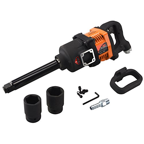 NEW Industrial Air Impact Wrench 1'' Pneumatic Compressor Long Shank 1,900 ft/lb by Brand New