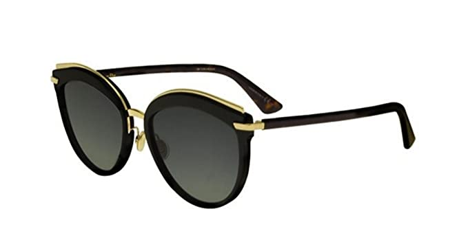 1f8e5d11846f New Christian Dior OFFSET 2 WR7 86 Black Gold Havana Grey Sunglasses   Amazon.co.uk  Clothing