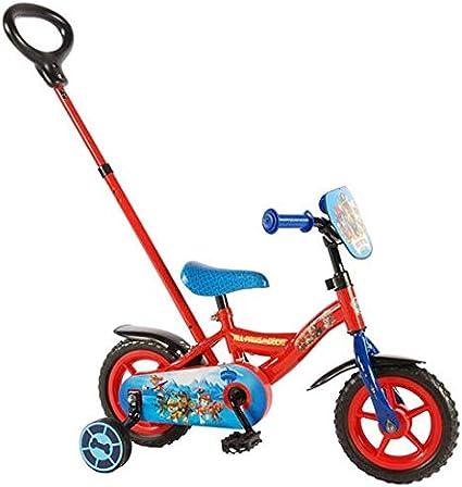 Paw Patrol Bicicleta Infantil con Varilla de Empuje extraíble, Niños, Rojo, Red/Blue