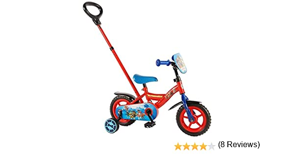 Paw Patrol Bicicleta Infantil con Varilla de Empuje extraíble, Niños, Rojo, Red/Blue: Amazon.es: Deportes y aire libre