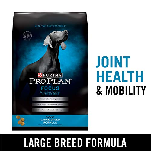 Purina Pro Plan High Protein Large Breed Dry Dog Food, FOCUS Large Breed Formula - 34 lb. Bag (Puppy Food For Sensitive Stomachs Large Breed)