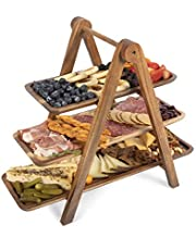 TOSCANA - a Picnic Time Brand Three-Tiered Serving Ladder Charcuterie Boards, 14-3/4 Inch