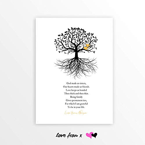 Personalized MAID OF HONOR Poem   Sister Best Friend Bridesmaid Poetry Print   Matron Of Honor   LFBM8