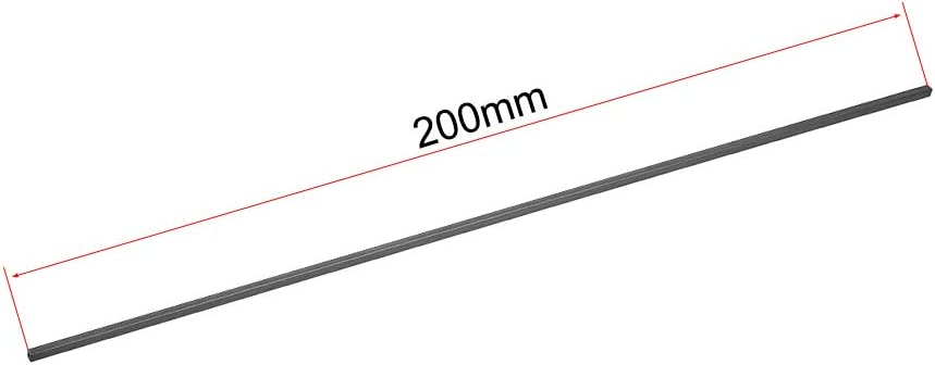 uxcell Carbon Fiber Square Tube 2x2x1mm Inner Round Dia 200mm Length Pultruded Carbon Fiber Tubing for RC Airplane 5 Pcs